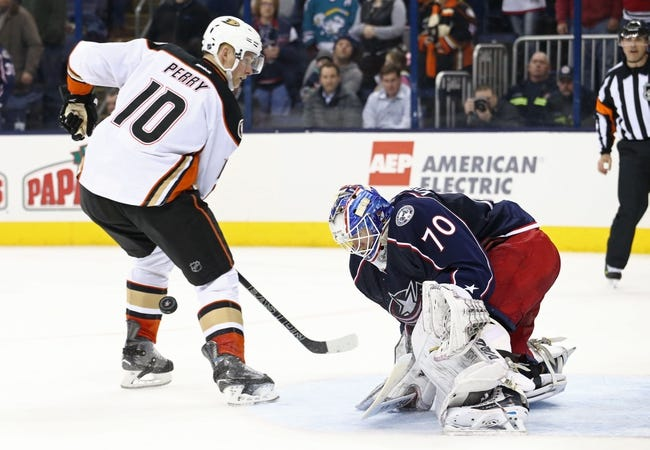 Anaheim Ducks vs. Columbus Blue Jackets - 10/28/16 NHL Pick, Odds, and Prediction
