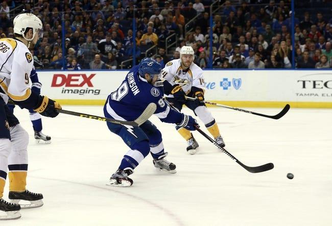 Nashville Predators vs. Tampa Bay Lightning - 11/21/16 NHL Pick, Odds, and Prediction