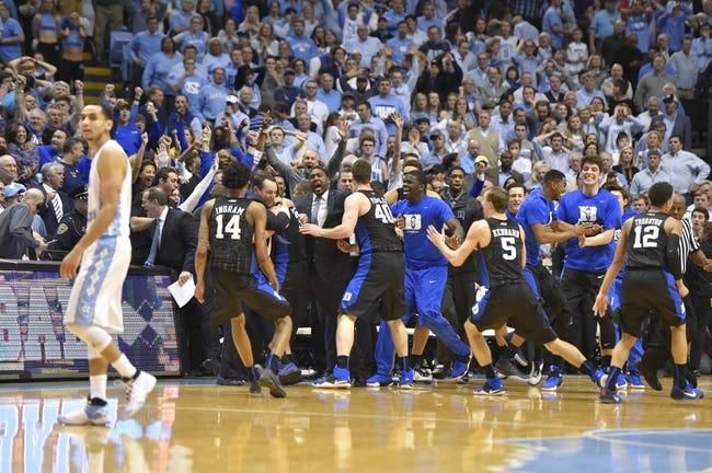 Duke vs. North Carolina - 3/5/16 College Basketball Pick, Odds, and Prediction