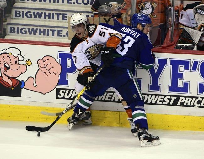 Ducks vs. Canucks - 4/1/16 NHL Pick, Odds, and Prediction