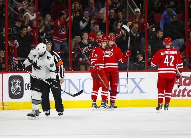 Carolina Hurricanes vs. San Jose Sharks - 11/15/16 NHL Pick, Odds, and Prediction