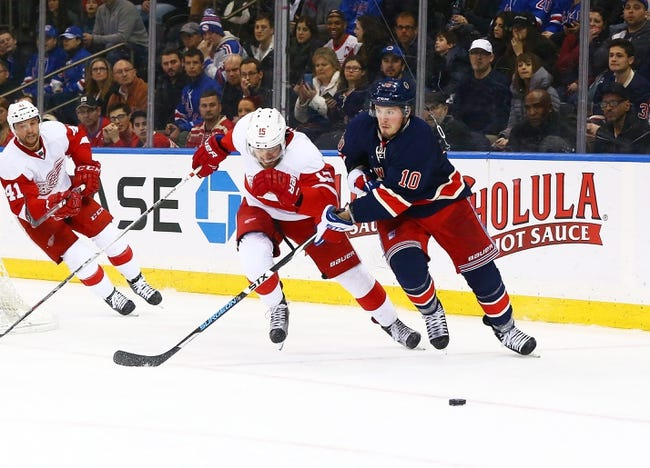Red Wings vs. Rangers - 3/12/16 NHL Pick, Odds, and Prediction