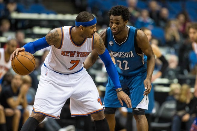 New York Knicks at Minnesota Timberwolves - 11/30/16 NBA Pick, Odds, and Prediction