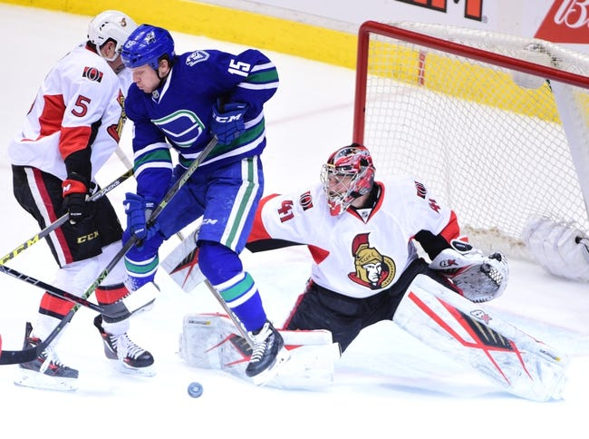Vancouver Canucks vs. Ottawa Senators - 10/25/16 NHL Pick, Odds, and Prediction