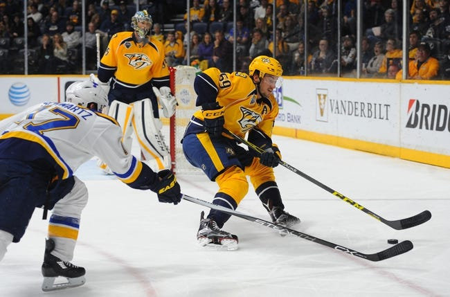 Nashville Predators vs. St. Louis Blues - 11/10/16 NHL Pick, Odds, and Prediction