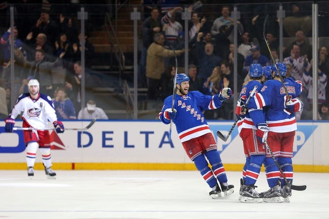 Blue Jackets vs. Rangers - 4/4/16 NHL Pick, Odds, and Prediction