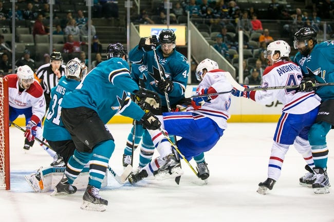 San Jose Sharks vs. Montreal Canadiens - 12/2/16 NHL Pick, Odds, and Prediction