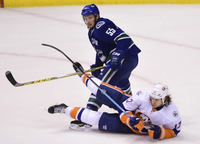 New York Islanders vs. Vancouver Canucks - 11/7/16 NHL Pick, Odds, and Prediction