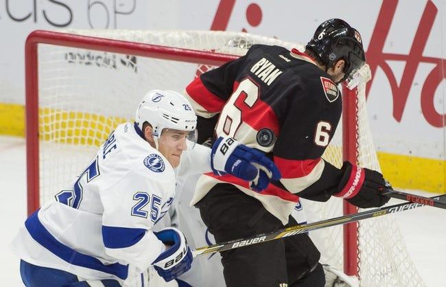 Ottawa Senators vs. Tampa Bay Lightning - 10/22/16 NHL Pick, Odds, and Prediction