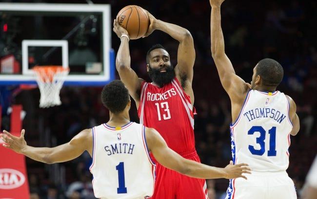 Houston Rockets vs. Philadelphia 76ers - 11/14/16 NBA Pick, Odds, and Prediction