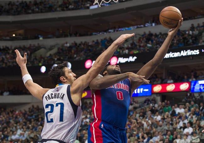 Pistons vs. Mavericks - 4/1/16 NBA Pick, Odds, and Prediction