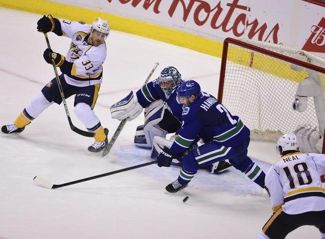 Predators vs. Canucks - 3/24/16 NHL Pick, Odds, and Prediction