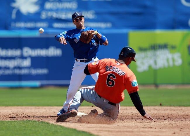 Baltimore Orioles vs. Toronto Blue Jays - 4/19/16 MLB Pick, Odds, and Prediction