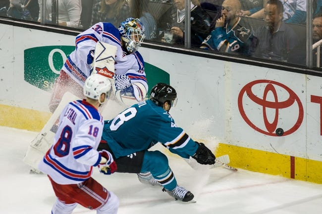 New York Rangers vs. San Jose Sharks - 10/17/16 NHL Pick, Odds, and Prediction