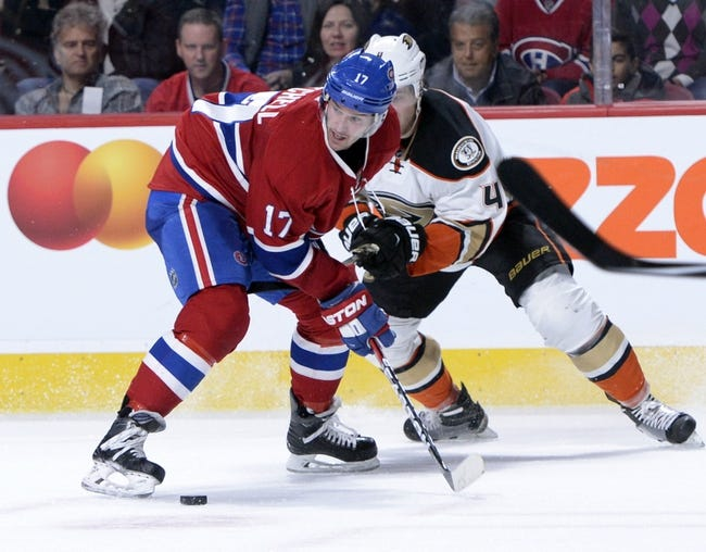 Anaheim Ducks vs. Montreal Canadiens - 11/29/16 NHL Pick, Odds, and Prediction