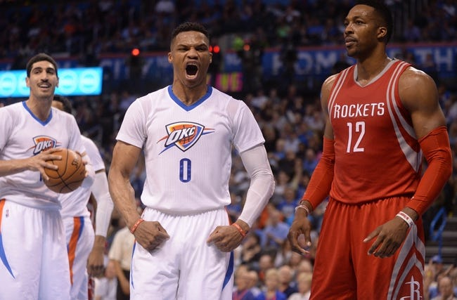 Rockets vs. Thunder - 4/3/16 NBA Pick, Odds, and Prediction