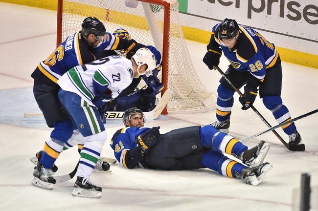 Vancouver Canucks vs. St. Louis Blues - 10/18/16 NHL Pick, Odds, and Prediction