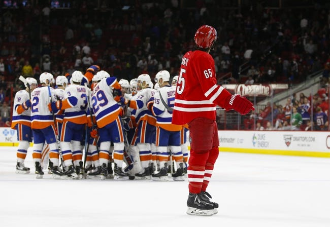Cam Ward will defend the post as the Hurricanes host the Islanders