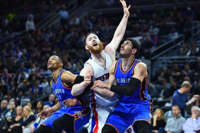 Detroit Pistons vs. Oklahoma City Thunder - 11/14/16 NBA Pick, Odds, and Prediction