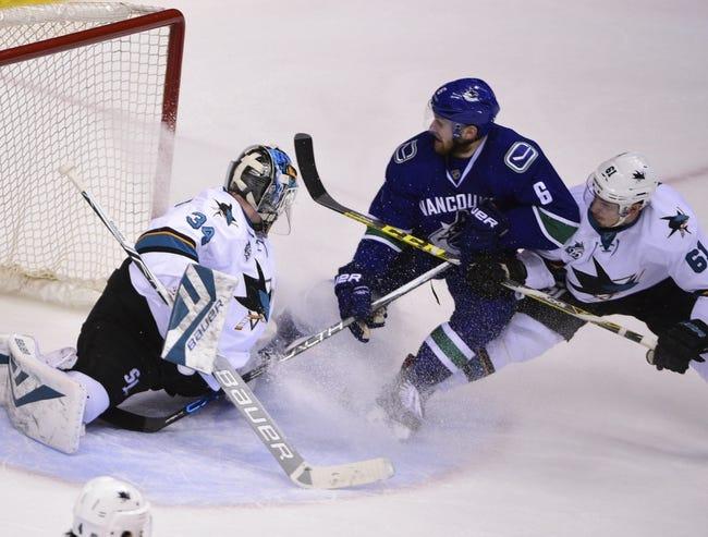 Sharks vs. Canucks - 3/31/16 NHL Pick, Odds, and Prediction