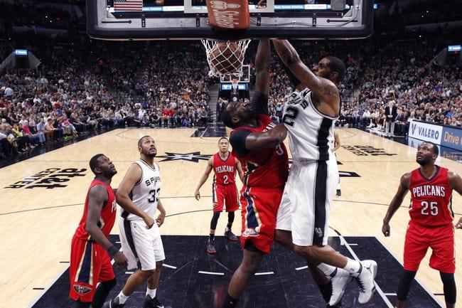 San Antonio Spurs vs. New Orleans Pelicans - 10/29/16 NBA Pick, Odds, and Prediction