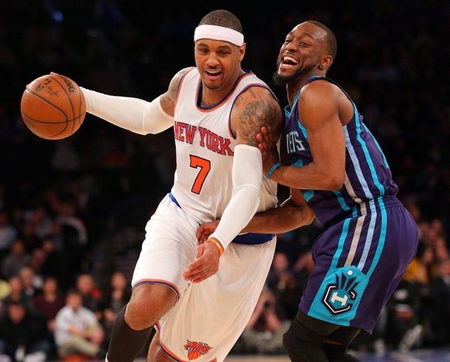 New York Knicks vs. Charlotte Hornets - 11/25/16 NBA Pick, Odds, and Prediction