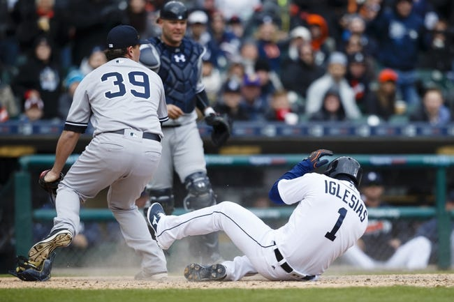 Detroit Tigers vs. New York Yankees - 4/10/16 MLB Pick, Odds, and Prediction