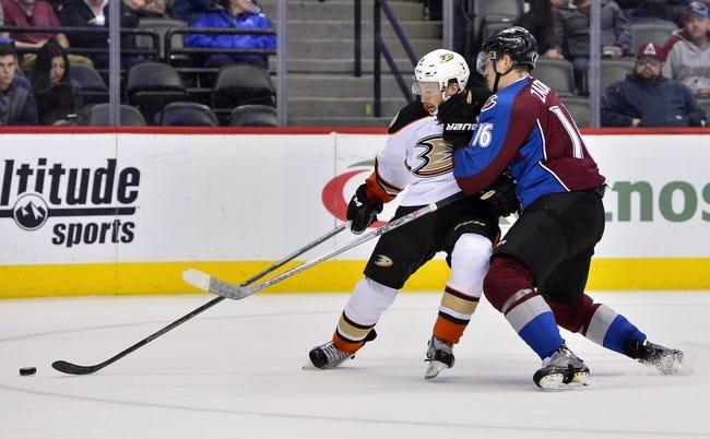 Colorado Avalanche vs. Anaheim Ducks - 1/12/17 NHL Pick, Odds, and Prediction