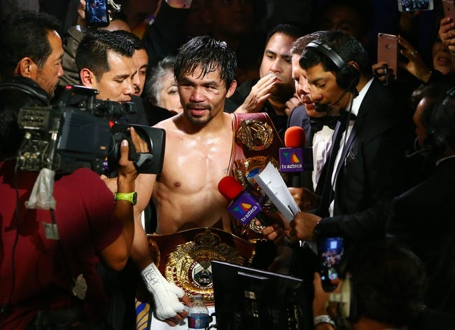 Manny Pacquiao vs. Lucas Matthysse Boxing Preview, Pick, Odds, Prediction - 7/14/18