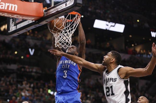 San Antonio Spurs vs. Oklahoma City Thunder - 4/30/16 NBA Pick, Odds, and Prediction
