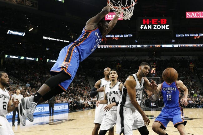 Thunder at Spurs Game 1 - 4/30/16 NBA Pick, Odds, and Prediction
