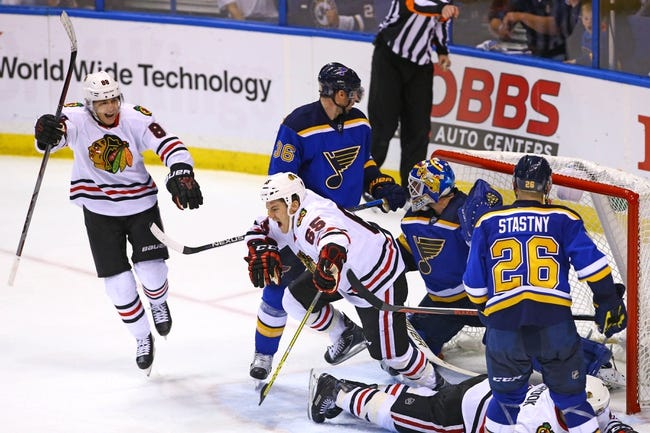 Blues at Blackhawks Game 3 - 4/17/16 NHL Pick, Odds, and Prediction