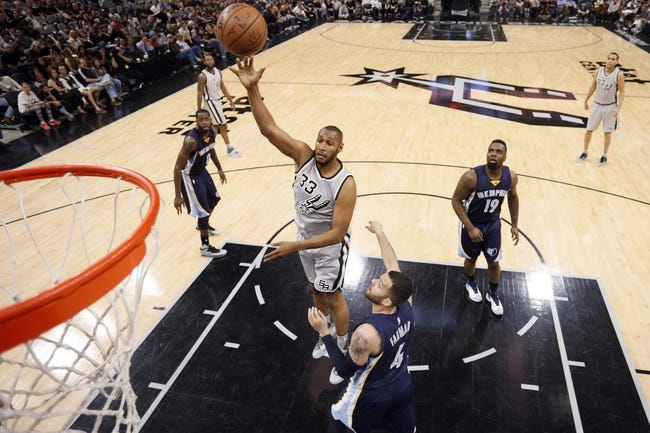 San Antonio Spurs vs. Memphis Grizzlies - 4/19/16 NBA Pick, Odds, and Prediction