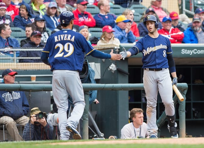 Milwaukee Brewers vs. Minnesota Twins - 4/20/16 MLB Pick, Odds, and Prediction