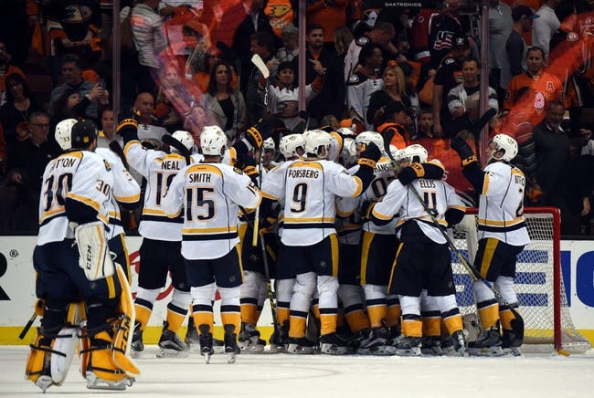 Anaheim Ducks vs. Nashville Predators - 10/26/16 NHL Pick, Odds, and Prediction