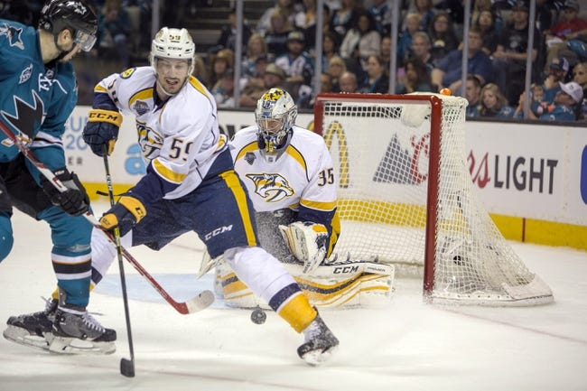 Nashville Predators vs. San Jose Sharks - 5/3/16 NHL Pick, Odds, and Prediction