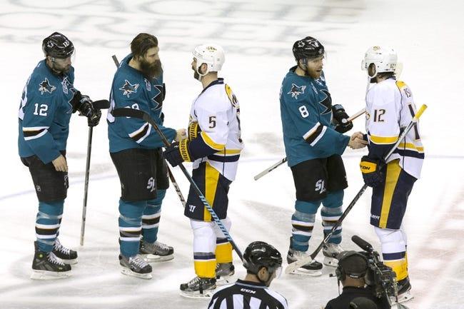 San Jose Sharks vs. Nashville Predators - 10/29/16 NHL Pick, Odds, and Prediction