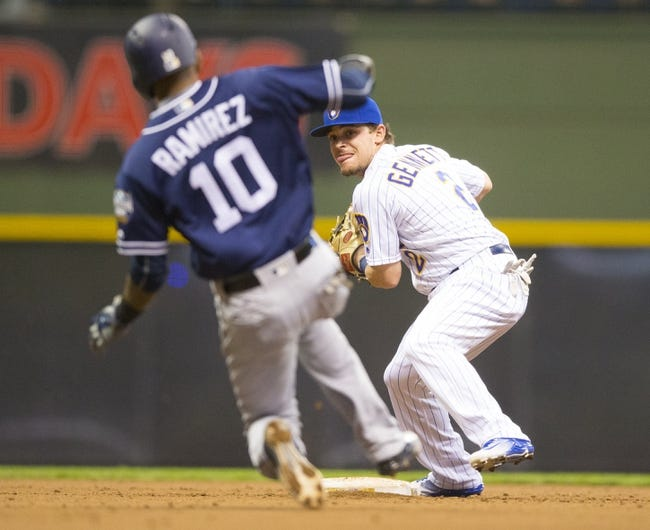 Milwaukee Brewers vs. San Diego Padres - 5/15/16 MLB Pick, Odds, and Prediction