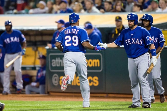 Athletics vs. Rangers - 5/17/16 MLB Pick, Odds, and Prediction