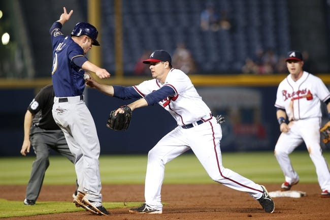 Milwaukee Brewers vs. Atlanta Braves - 8/8/16 MLB Pick, Odds, and Prediction