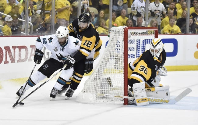 Pittsburgh Penguins vs. San Jose Sharks Game Two - 6/1/16 NHL Pick, Odds, and Prediction