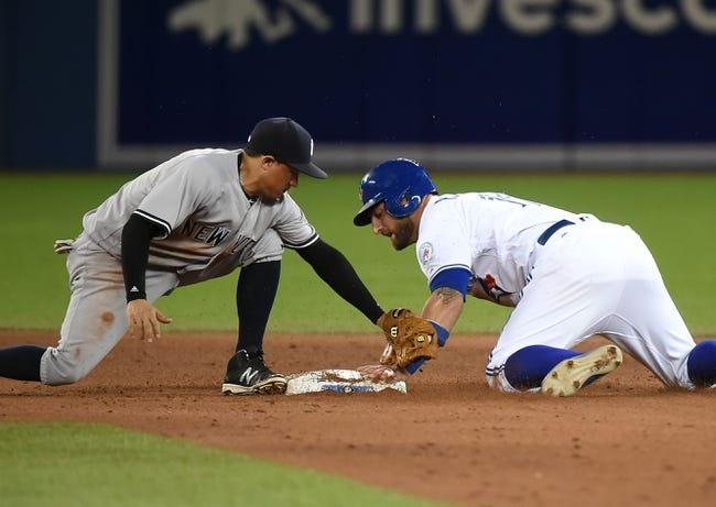 New York Yankees vs. Toronto Blue Jays - 8/15/16 MLB Pick, Odds, and Prediction