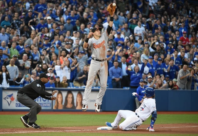 Toronto Blue Jays vs. Baltimore Orioles - 6/10/16 MLB Pick, Odds, and Prediction