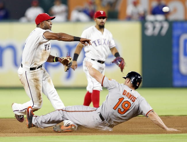 Rangers at Orioles - 8/2/16 MLB Pick, Odds, and Prediction