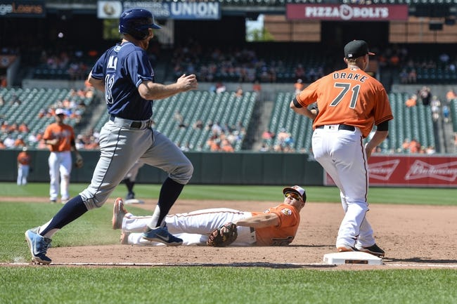 Tampa Bay Rays vs. Baltimore Orioles - 7/16/16 MLB Pick, Odds, and Prediction