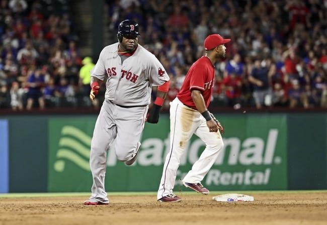 Rangers vs. Red Sox - 6/26/16 MLB Pick, Odds, and Prediction