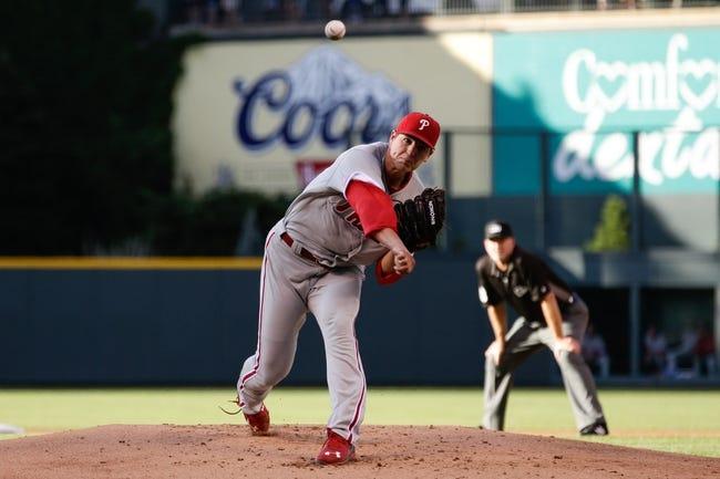 Philadelphia Phillies vs. Colorado Rockies - 8/12/16 MLB Pick, Odds, and Prediction