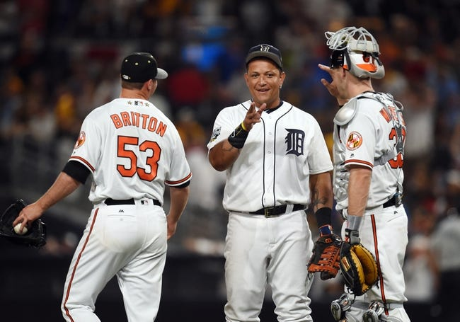Detroit Tigers vs. Baltimore Orioles - 9/9/16 MLB Pick, Odds, and Prediction