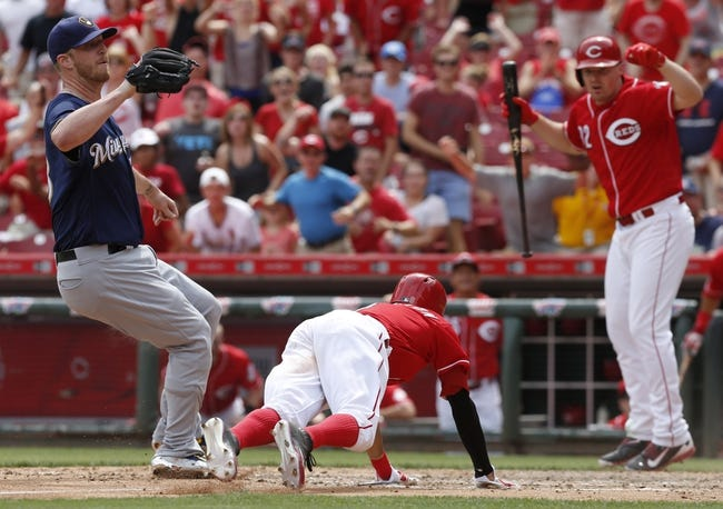 Brewers vs. Reds - 8/14/16 MLB Pick, Odds, and Prediction