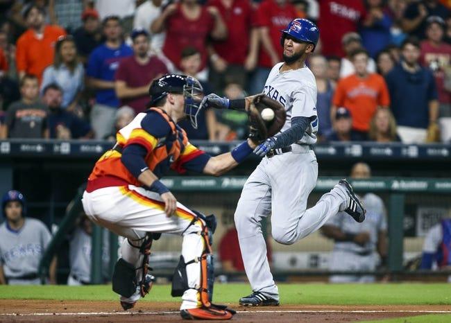 Houston Astros vs. Texas Rangers - 8/7/16 MLB Pick, Odds, and Prediction